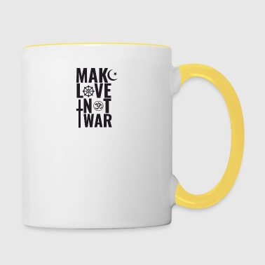 Make Love Not War - Contrasting Mug