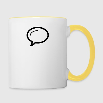 Linecons speech bubble - Contrasting Mug