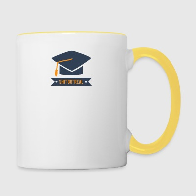 High School / Graduation: Shit Got Real - Contrasting Mug