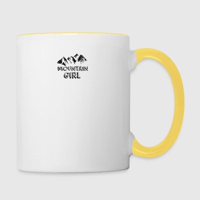 Mountain girl - Contrasting Mug