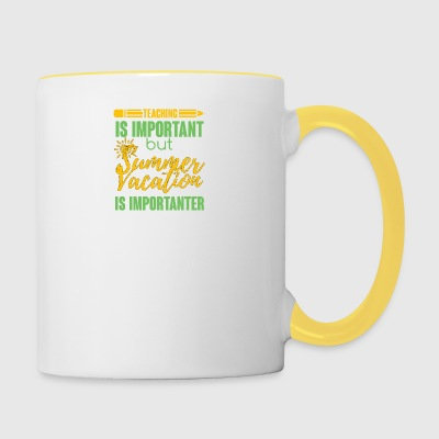 Teacher / School: Teaching Is Important but Summer - Contrasting Mug