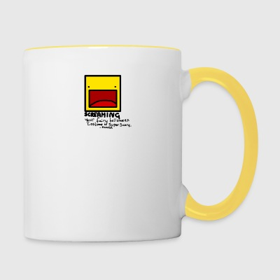 Halloween Screaming - Contrasting Mug