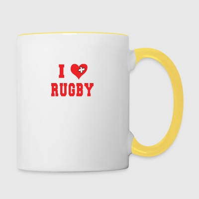 I Love Rugby Football - Contrasting Mug
