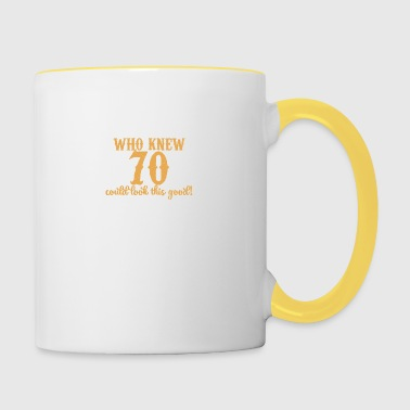 70th Birthday: Who Knew 70 Could Look This Good! - Contrasting Mug