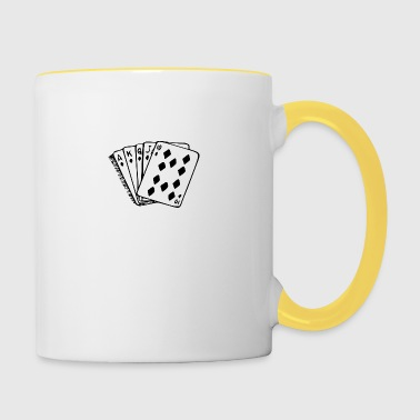 Royal Flush - Tasse zweifarbig