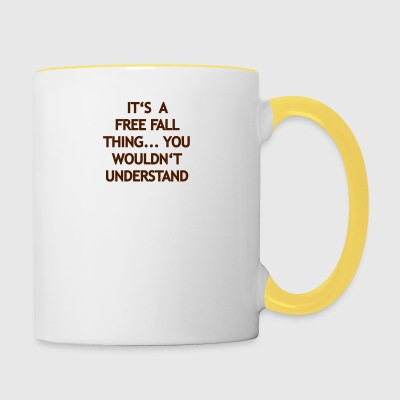 Chose Free Fall - Tasse bicolore
