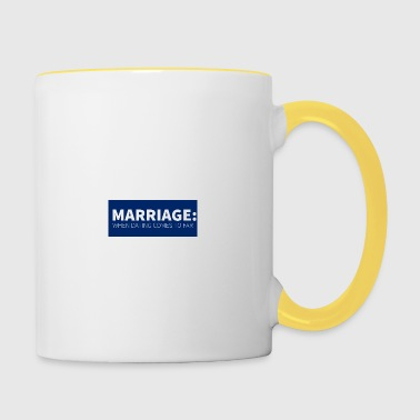 Wedding / Marriage: Marriage: When dating comes to - Contrasting Mug