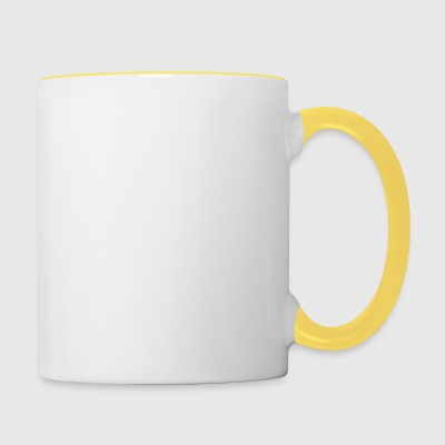 Blogger mode 2 - blanc - Tasse bicolore