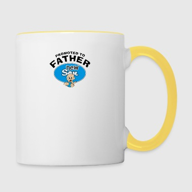 Promoted To Father New Son - Contrasting Mug
