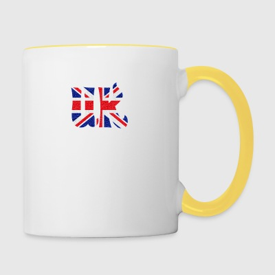 UK flag crystal - Contrasting Mug