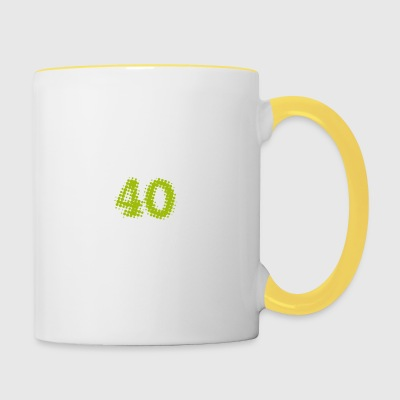 pie 40th birthday gift stamp Post - Contrasting Mug