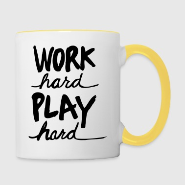 Work Hard Play Hard - Contrasting Mug