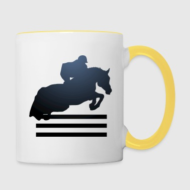 Show jumping, Stallion, Mare, Horse, Reitsport - Contrasting Mug