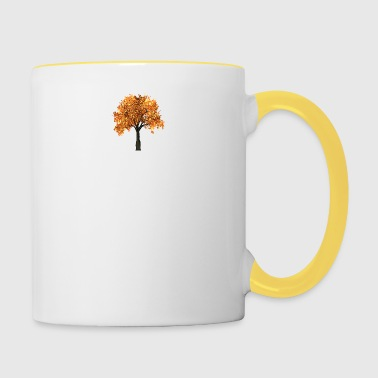 Beautiful tree with yellow leaves - Contrasting Mug