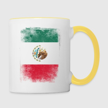 Mexiko-Flagge Proud Mexican Vintage Distressed - Tasse zweifarbig