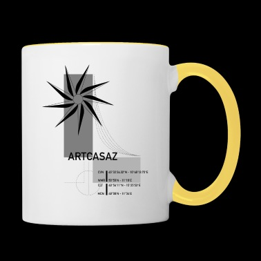 Artcasaz logo fashion geographical graphics - Contrasting Mug