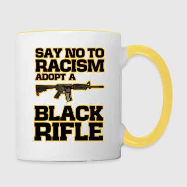 adoptar una joke2 divertido rifle negro - Taza en dos colores