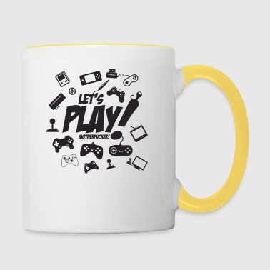 Let's play motherfucker - Contrasting Mug