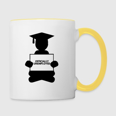 High School / Graduation: Officially Unemployed - Contrasting Mug