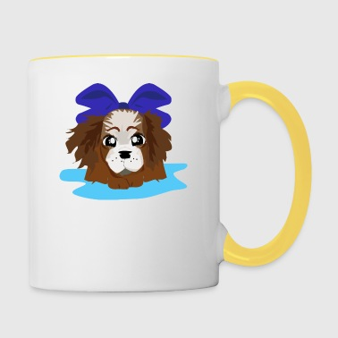 LOVELY BLUE PUPPY - Contrasting Mug