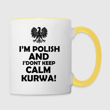 keep calm - Kubek dwukolorowy