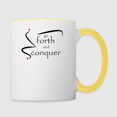 go_forth_red_black - Contrasting Mug
