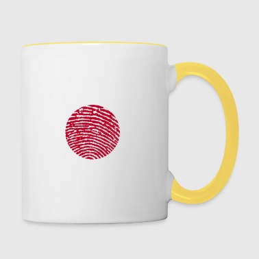 Fingerprint - Japan - Tasse zweifarbig