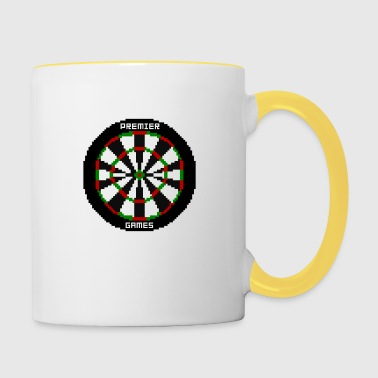 premier games pixelated dartboard - Tasse zweifarbig