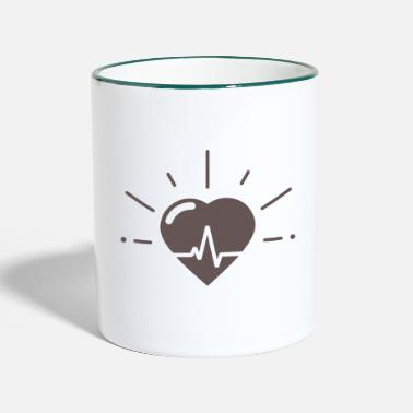 Heartbeat Heartbeat for heartbeat - Two-Tone Mug