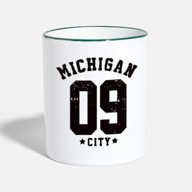 Michigan Michigan - Tasse zweifarbig