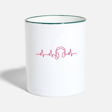 Heart Palpitations Music heart palpitations - Two-Tone Mug