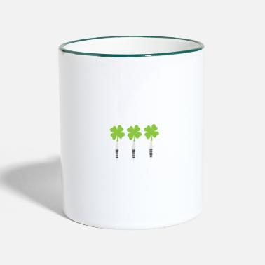 Stem Day Darts Saint Hat Tricks St Patrick Shamrock - Two-Tone Mug