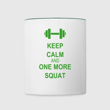 Keep calm and squat - Tazze bicolor