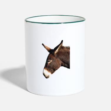 Donkey Anime Donkey animal - Two-Tone Mug