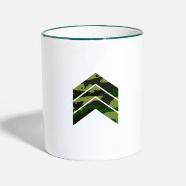 Military Camouflage triangle arrows green - Two-Tone Mug