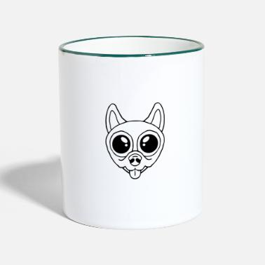 Sweet Dog Sweet dog face - Two-Tone Mug