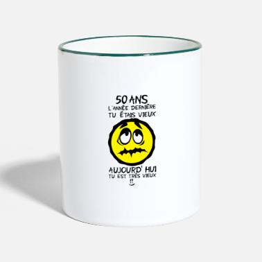 Year Old 50 years old was old birthday - Two-Tone Mug