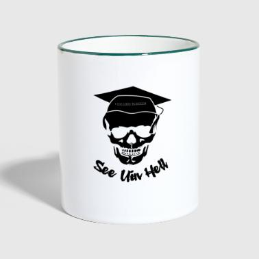Skull College Finishing - Taza en dos colores