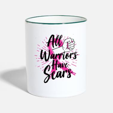 Awareness Breast Cancer Awareness Art For Warrior Women Light - Two-Tone Mug