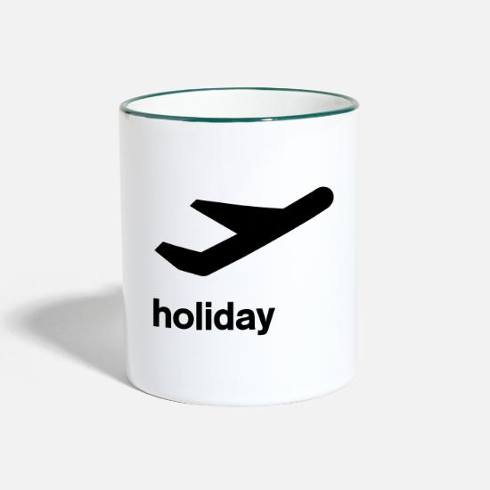 Symbol  Mugs & Drinkware - departure icon Holiday - Two-Tone Mug white/dark green