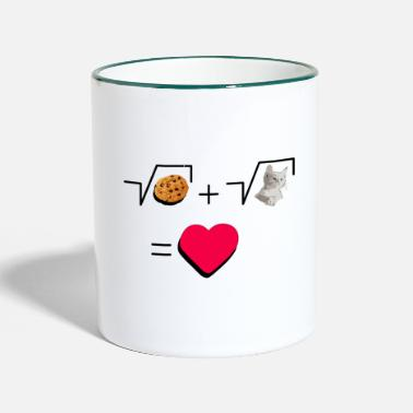 Pull The Root Cookies and cat Cat and biscuits alike love - Two-Tone Mug