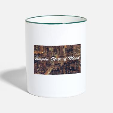 empire state of mind nyc new york - Two-Tone Mug