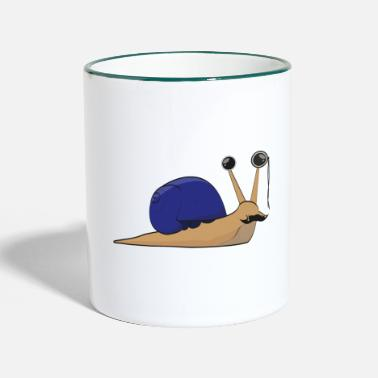 Wealthy The wealthy snail - gift idea - Two-Tone Mug