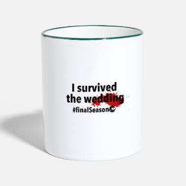 Königreich I survived the wedding | Black - Tasse zweifarbig