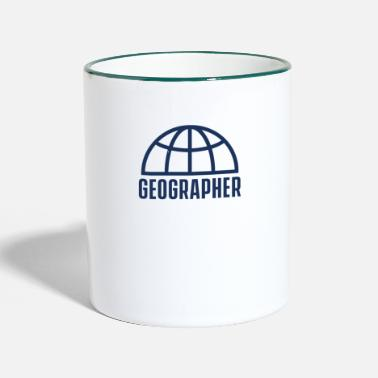 Geographic geographer - Two-Tone Mug