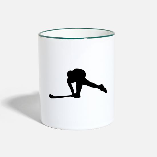 Gift Idea Mugs & Drinkware - field Hockey - Two-Tone Mug white/dark green