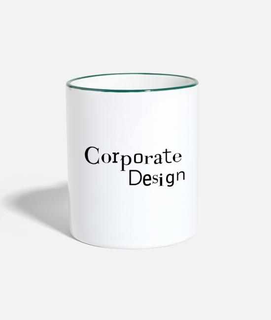 Visualization Mugs & Drinkware - Corporate design - visual appearance CD - Two-Tone Mug white/dark green