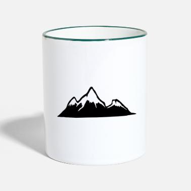 Alps Mountains Mountains, Alps, mountain, hiking - Two-Tone Mug