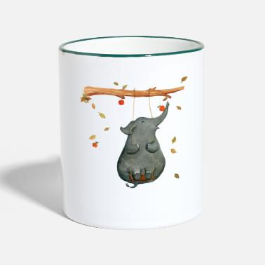 Collections elephant - Taza en dos colores