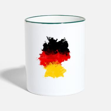 Germany GERMANY FLAG LANDESFARBEN GERMANY GRAFFITI - Two-Tone Mug